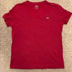V-neck lacoste t-shirt